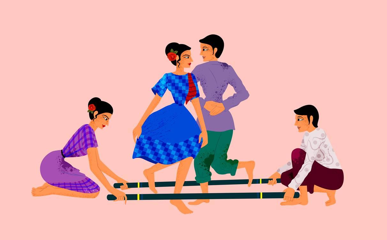 Tinikling med Drammen Filipino Dance Group
